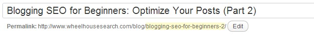 Blogging SEO for Beginners - URL structure