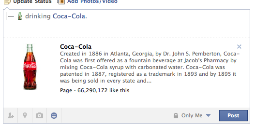 Facebook Coke Screen Shot
