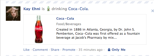 Facebook New Coke Screen Shot