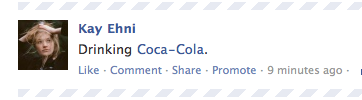 Facebook Old Coke Screen Shot