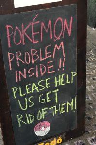 pokemon go small business sign