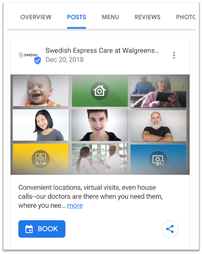 google my business post example