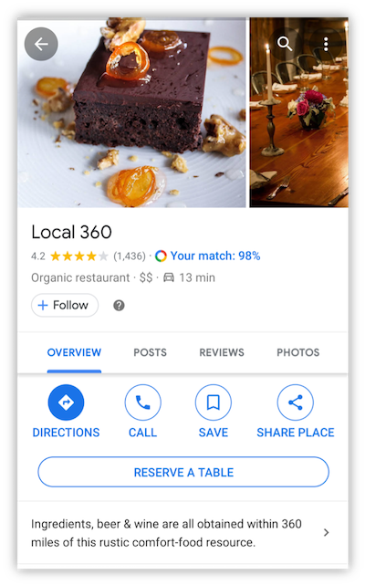 google my business listing for local 360